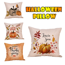 Pillow Case Fahsion New Halloween  Soft Letter Cute Throw Cover 45*45 taie doreiller