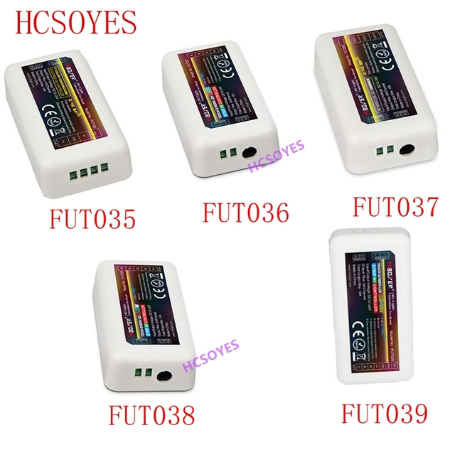 Mi Light contrôleur pour bande led, pour couleur unique, sans fil avec RF 2.4 ghz, CCT, rvb, RGBW, rvb + CCT, FUT035/FUT036/FUT037/FUT038/FUT039
