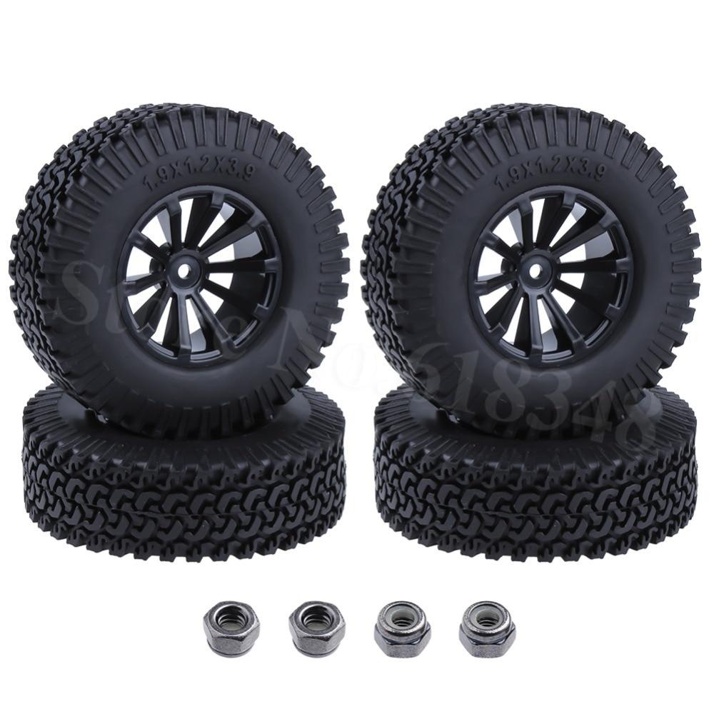 2pcs RC 1.9/'/' Alloy Beadlock Wheels rims For 1//10 RC 4WD Axial 1.9 Crawler Tires