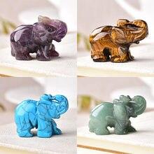1 adet doğal kristal gül kuvars fil ametist obsidyen hayvanlar taş el sanatları küçük dekorasyon ev dekor noel hediyesi