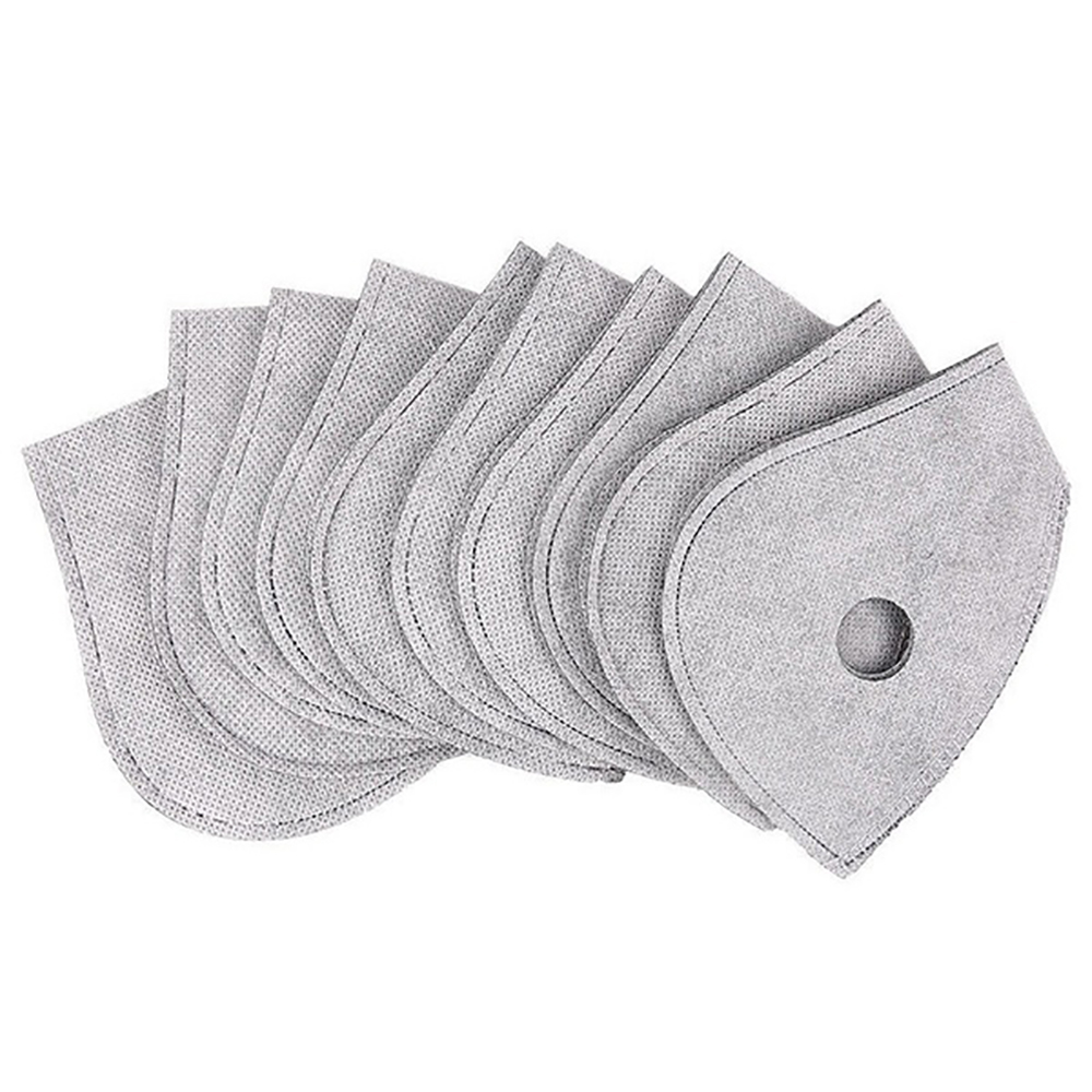 10 Pcs Professional Dust Proof Anti Haze Breathable Activated Carbon Filters PM 2.5 Mask Gaskets Mask Pads Outdoor Cycling