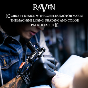 Image 5 - Macchina rotativa Del Tatuaggio Dragonhawk Raven Pistole Tatuaggio Professionale Forte Del Tatuaggio Del Motore di Alimentazione