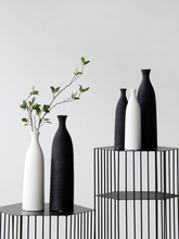 Simple Modern Black White Ceramic Vase Accessories Crafts Home Livingroom Table Figurines Decoration Office Furnishing Ornaments