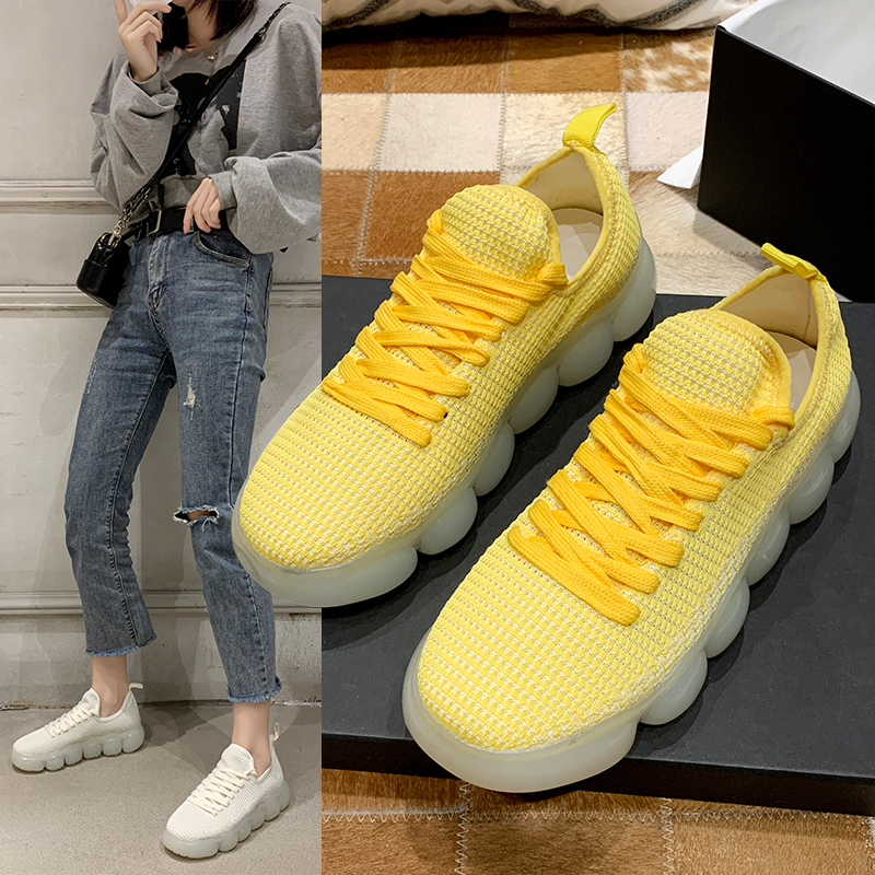 YRRFUOT Women's Fashion Shoes Colorful Korean Casual Shoes Women 2020 New Spring Zapatos Mujer Outdoor Wild Light Women Sneakers