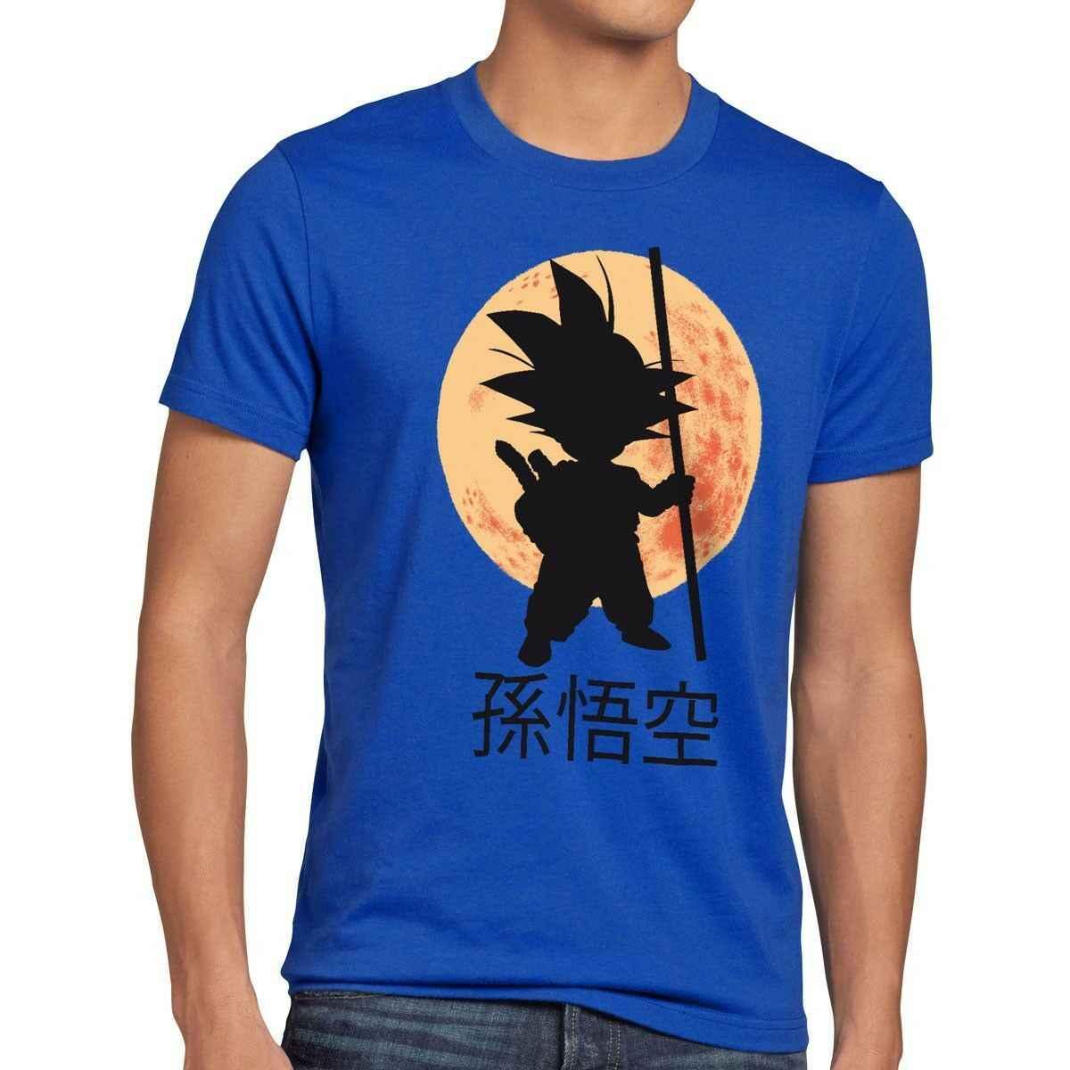 Goku Moon Мужская футболка с мячом супер криллин Роши Дракон Аниме Комикс ребенок Z SON-show оригинальное название