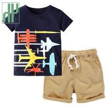 Hh 2021 nova verão meninos dos desenhos animados conjuntos de roupas crianças camiseta calças curtas roupas do bebê para adolescentes menino