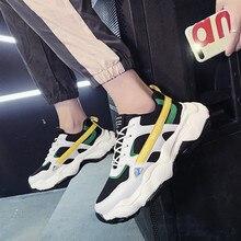 Erkek spor ayakkabı tüm mevsim kalın taban erkekler rahat ayakkabılar nefes aşınmaya dayanıklı Platform ayakkabılar için erkek gençlik gelgit Chaussure 10