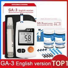 GA-3 измеритель уровня глюкозы в крови и тест-полоски и иглы ланцеты Glm медицинский глюкометр измеритель уровня сахара в крови монитор обнаружения для диабетиков