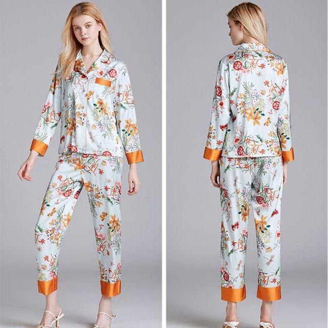 Women's Faux Silk Pajamas Set