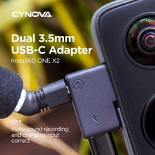 Audio Charging External Converter Music Lovers Playing Mic Adapter Action Camera Accessories for Insta360 ONE X2