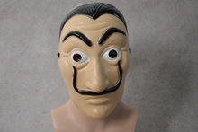 Hot 20Pcs/lot Money Heist The House of Paper La Casa De Papel Dali Mask for  Halloween Carnival Salvador Dali Face Masks