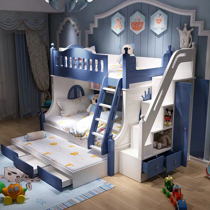 lit superpose enfant haut et bas echelle multi fonction meuble lit bois massif lit enfant et combinaison de lit