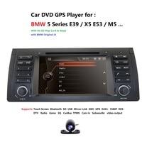 2Din 7'' Car DVD Multimedia Player Head Unit For BMW E53 E39 X5 GPS Navi RDS SD USB Steering wheel control Mirror Link Bluetooth