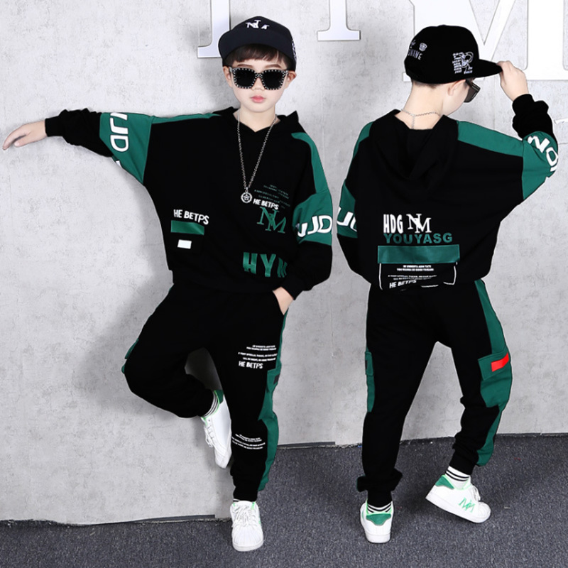 2021 Spring Autumn Kids Clothes Boys 3 4 5 6 7 8 9 10 11 12 14 Years Boys Clothing Set Sports Suit Boys Hooded Jacket And Pants 1