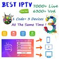 Mundo IPTV suscripción 7500 En directo/Live 6000 VOD adulto IPTV Fr España Brasil tv box M3U Android Smart IPTV soporte de caja 3 dispositivos