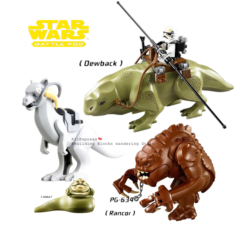Animal Single Sale Star Wars Rancor Figure Building Blocks Dewback Set Cool Monster Models Bricks Toys For Children