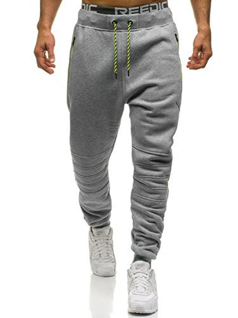 ZOGAA New Fitness Men Joggers Sweatpants Drawstring Sportswear Joggers Pants Men Solid Casual Bodybuilding Track Pants Trousers