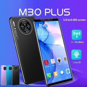 Cheapest Smart Phone CECTDIGI M30 Plus 5.8 Inch Full Screen Smartphone 3G WCDMA Unlocked Dual Sim Mobile Phone Face ID Unlocked