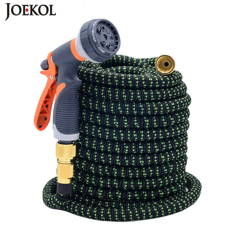 Expandable Hose Watering-Hose Plastic Garden Magic Flexible Spray-Gun  title=