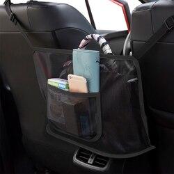 Net bolso do carro bolsa titular organizador assento de armazenamento lateral malha saco líquido para acessórios do carro decoração interior net bolsa