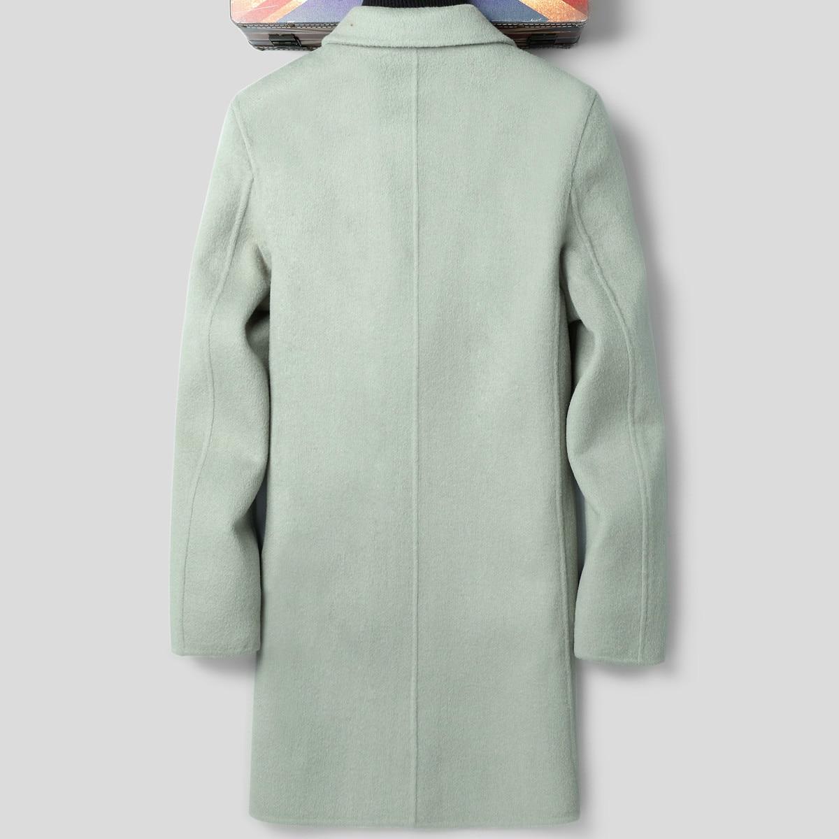 Handmade Double-sided Wool Coat Korean Spring Fall British Windbreaker Jacket Mens Coats And Jackets LSY088338 K1292