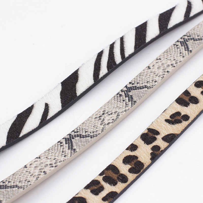 Moda Leopard pasek damski wąż nadruk zebry cienki pasek żeński PU skóra złota pierścieniowa klamra koński pas biodrowy pasy dla kobiet