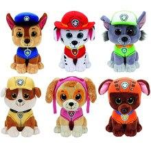 Ty beanie animais cão pata patrulha brinquedo de pelúcia 15cm