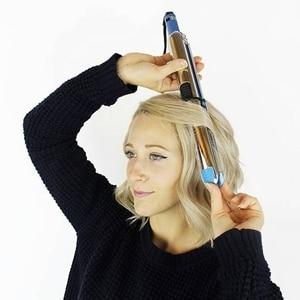 Image 5 - עד 750F פרו נירוסטה 1/4 טיטניום שיער מחליק מקצועי שטוח ברזל מהיר חשמלי מיישר ברזל סלון