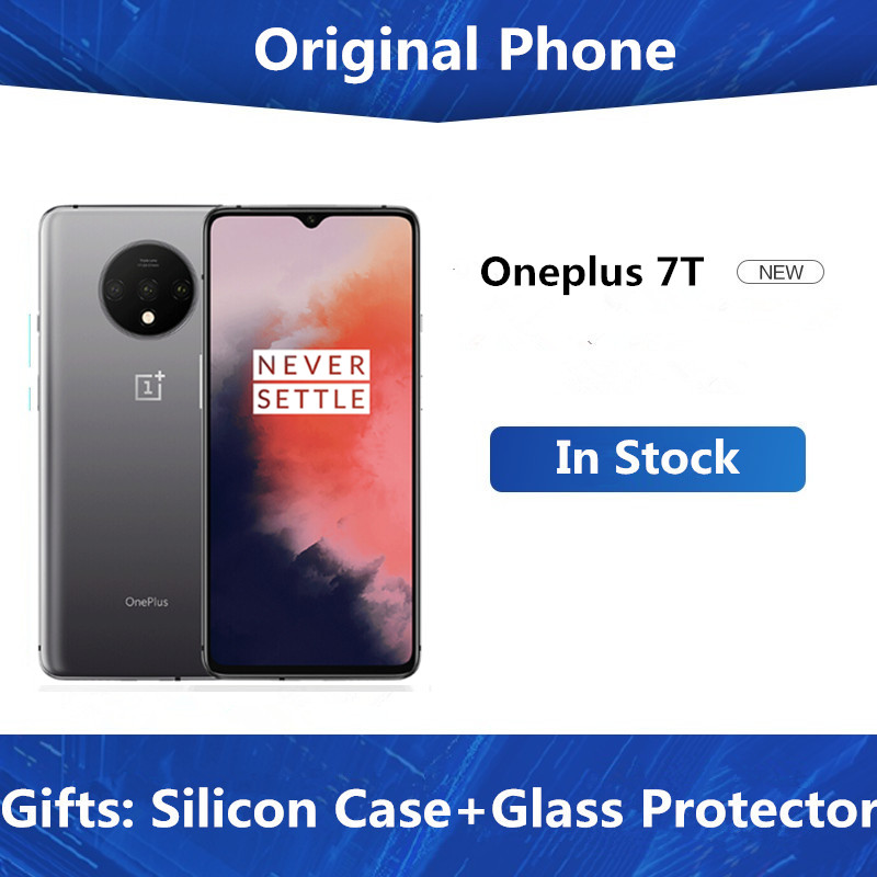 "New Oneplus 7T Smart Phone Snapdragon 855 Plus Android 10.0 6.55"" AMOLED 90Hz 8GB RAM 256GB ROM 4 Cameras Screen Fingerprint(China)"