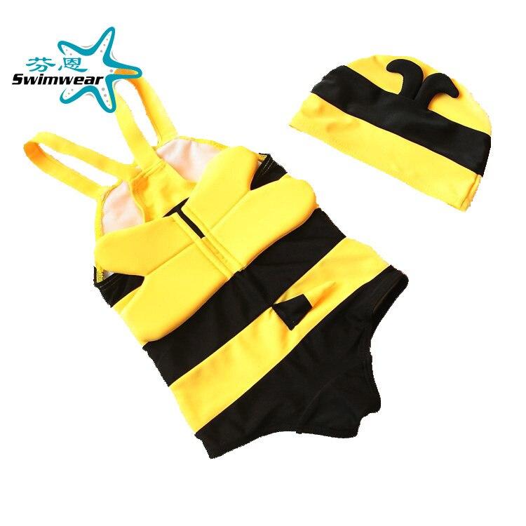 BABY'S Swimsuit Baby Cartoon Cute Little Bee KID'S Swimwear BOY'S Siamese Swimsuit