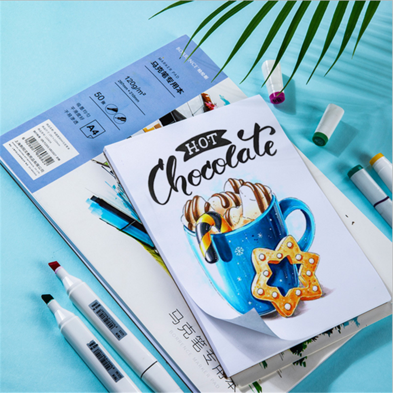 Eval Marker Pen Paper Professional Watercolor Paper 50pages Hand Painted Sketch Graffiti Book For Artist Student Supplies