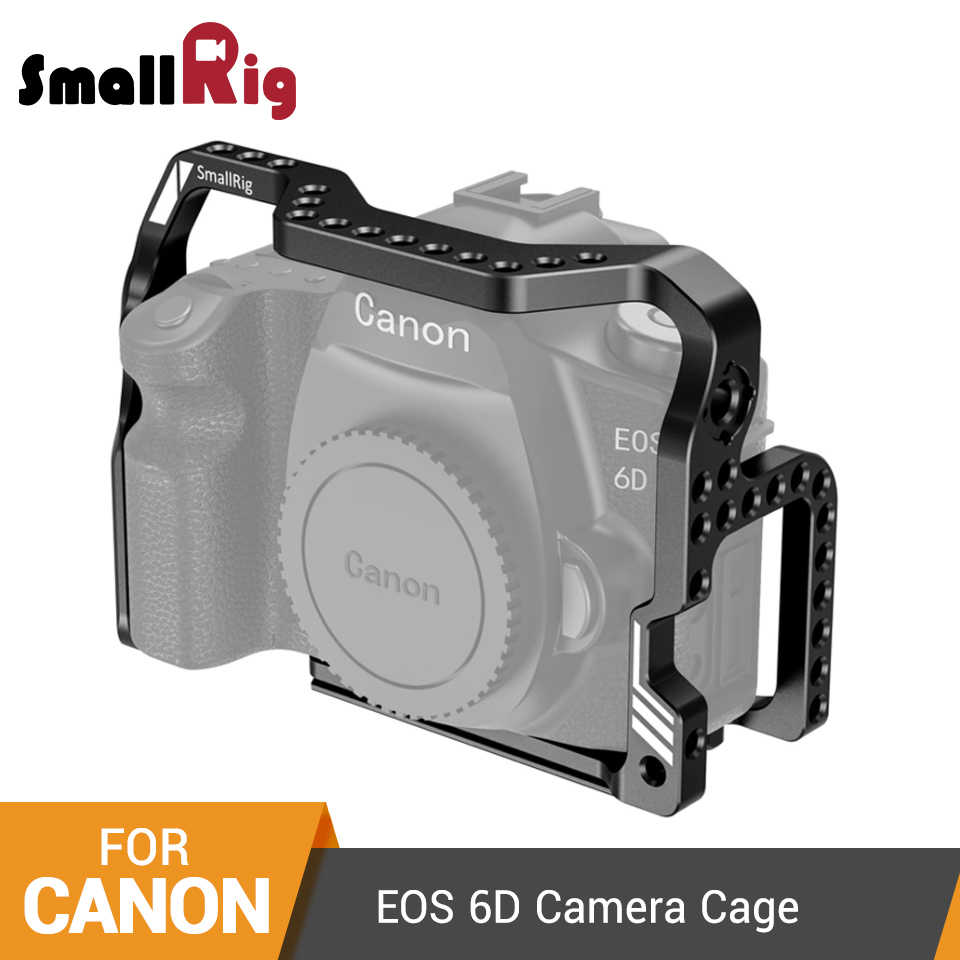 SmallRig 6D Form-fitting Cage for Canon EOS 6D Camera Cage With Built-in Arca Plate and ARRI locating Holes -2407