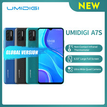 UMIDIGI-teléfono inteligente A7S, Pantalla Completa grande 20:9 de 6,53 pulgadas, 32GB, 4150mAh, Triple Cámara, Sensor de temperatura infrarrojo, tipo C