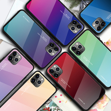 For Apple iphone 11 Case Hard Tempered Glass Gradient protective Back Cover case For iphone 11 Pro Max iphone11 11pro shell цена 2017
