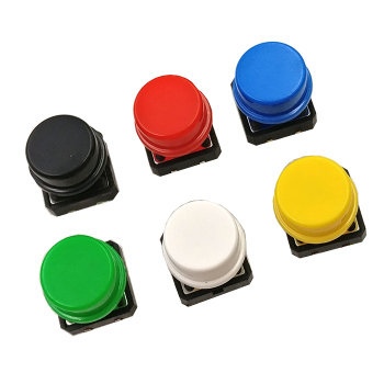 Touch switch 12X12X7.3H button domestic + color button cap 4-pin in-line switch touch button image