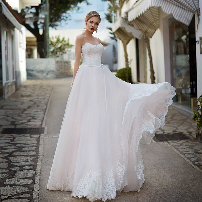 OLLYMURS 2020 New Sleeveless Off The Shoulder Simple Silk Organza Wedding Backless Strap Fashion Bride Support Tailor-made