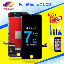 "1Pcs 100% נבדק AAA + + + 4.7 ""עבור iPhone 7 LCD תצוגת מסך מגע Digitizer עצרת עבור Apple iPhone 7 a1660 A1778 A1779 מסך"