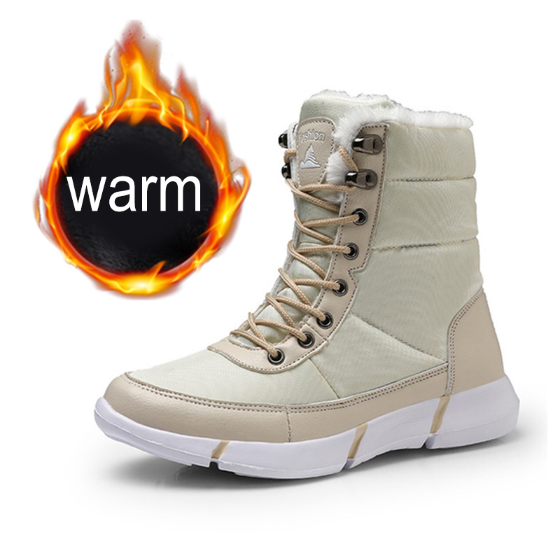 Women Boots 2019 Winter Shoes Woman Snow Boots With Plush Inside Shoes winter Waterproof Plus Winter Boots Rubber Female Booties-in Ankle Boots from Shoes