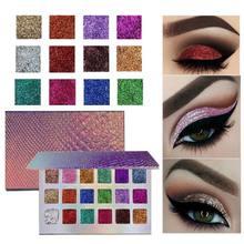 18 цветов мерцающие пигментированные тени для век Палитра в
