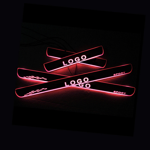LED Door Sill for Infiniti EX 2007 Door Scuff Plate Entry Guard Threshold Welcome Light Car Accessories