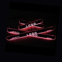 Ledインフィニティex 2007ドアスカッフプレートentry guardしきい値歓迎光車のアクセサリー