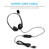 Call center wired headset with mic