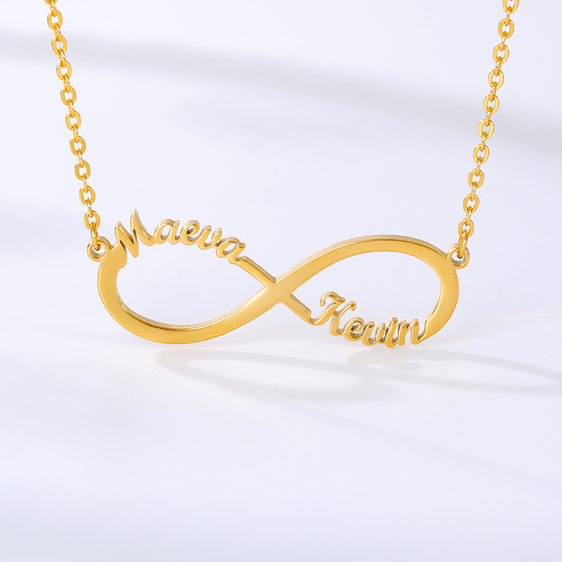 Customized Stainless Steel Infinity Name Necklace Boho Jewelry Personalized Heart Infinity Necklace Bridesmaid Gifts 3