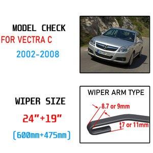 Image 2 - For Vauxhall Opel Vectra C 2002 2003 2004 2005 2006 2007 2008 Accessories Car Front Windscreen Wiper Blades Cutter U J Hook