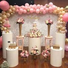 New 3pcs Round Cylinder Pedestal Display Art Decor Cake Rack Plinths Pillars for DIY Wedding Decorations Holiday