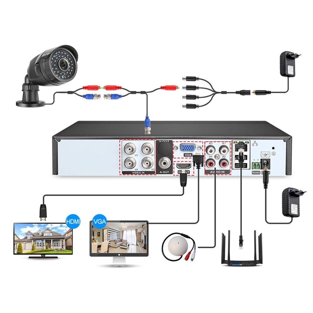 Techage 8CH 1080P HD CCTV System AHD DVR Kit 2MP IR Im Freien Wasserdichte Kamera Home Security P2P Video Set ES Lager