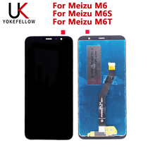 شاشة الكريستال السائل ل Meizu M6 LCD ل Meizu M6S LCD ل Meizu M6T شاشة الكريستال السائل شاشة رقمية كاملة الجمعية