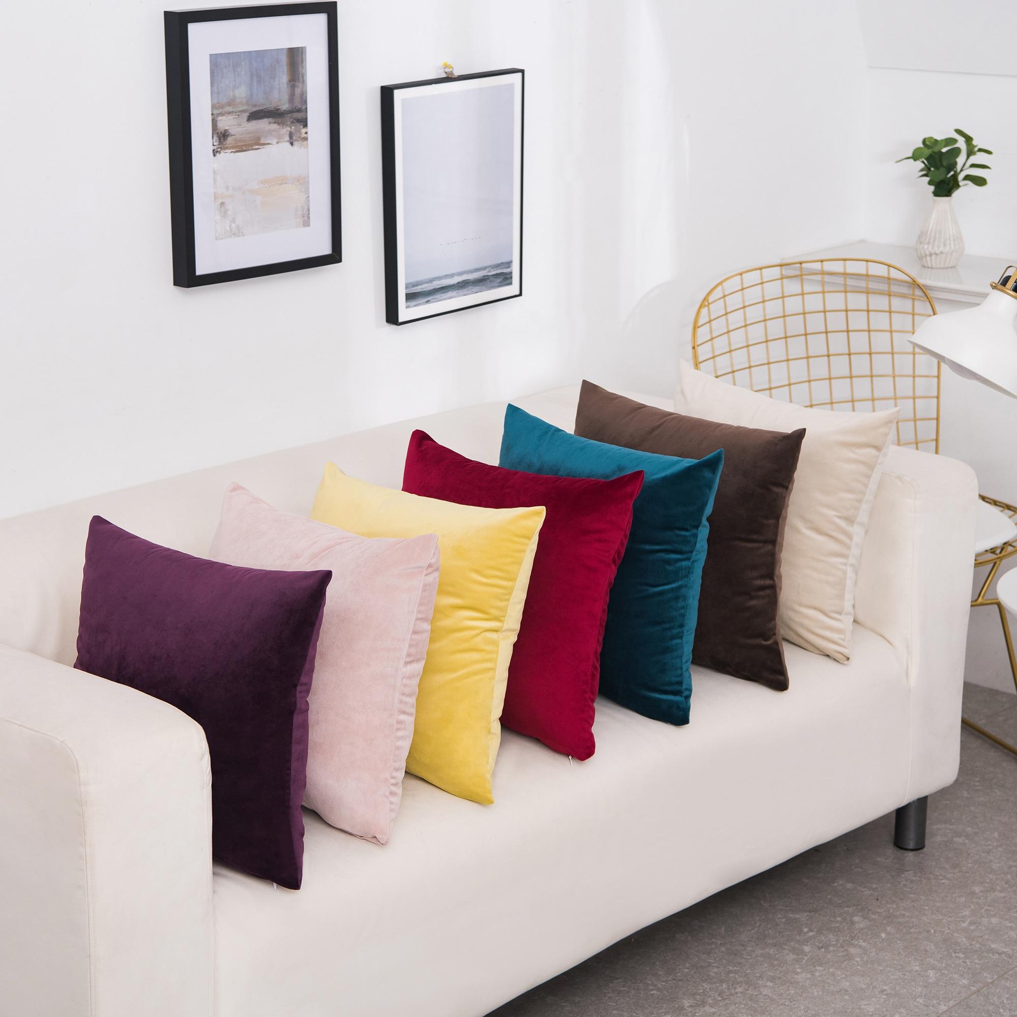 Luxury Velvet Cushion Cover Pillow Cover Pillow Case Home Decorative Sofa Throw Pillows For Living Room 45*45cm Kussenhoes Decor