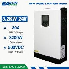 EASUN כוח שמש מהפך 24V Dc כדי 230Vac 24 וולט MPPT 3.2Kw 24V היברידי 80A לרוץ ללא סוללה off Grid מהפך מטען