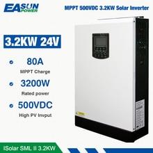 EASUN POWER Solar Inverter 24V Dc To 230Vac 24Volt MPPT 3.2Kw 24V Hybrid 80A Run Without Battery Off Grid Inverter Charger
